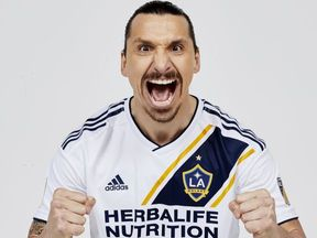 Ibrahimovic's contract with Manchester United was terminated on Thursday. Pic: LA Galaxy