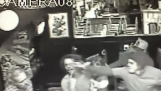 The man in the black and white pictures and another male, Joel Michael Wilson (dob 071586) are suspected of assaulting a third male around 10:00 p.m. on Thursday, January 25, at Crossroads Pizza & Wings Bar, 16 Mt. Evans Blvd in Pine Junction. The victim, Richard Warry Brown (dob 121678) was holding his 4-year-old daughter. Numerous punches were thrown prior to someone in the bar taking the child from Brown, and the fight continued. The child was not injured.