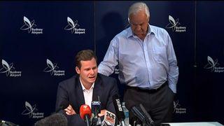 Former Cricket Australia captain Steve Smith breaks down as he addresses the media.