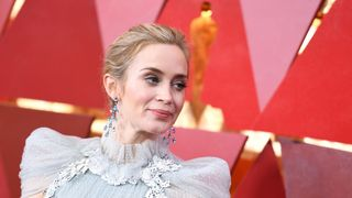 British-US actress Emily Blunt arrives for the 90th Annual Academy Awards on March 4, 2018, in Hollywood, California