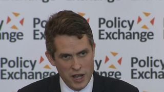 "Gavin Williamson, the defence secretary, saying earlier that Russia should ""go away and shut up"""