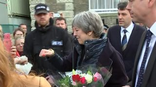 Theresa May visiting residents in Salisbury