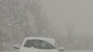 North Wales and areas of north England are suffering heavy snow