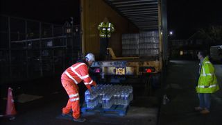 Water is being handed out in London, as residents are left without it after pipes burst