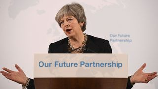 Theresa May made her speech at Mansion House in the City of London