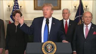 President Trump says his trade tariff plan is aimed at protecting US jobs