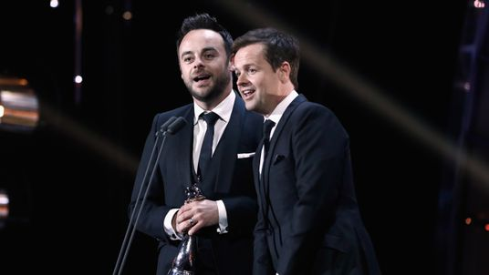LONDON, ENGLAND - JANUARY 25: Ant and Dec accept the Best TV Presenter Award on stage during the National Television Awards at The O2 Arena on January 25, 2017 in London, England. (Photo by John Phillips/Getty Images) Editorial subscription SML 4590 x 3060 px | 38.86 x 25.91 cm @ 300 dpi | 14.0 MP  Size Guide Add notes DOWNLOAD AGAIN Details Restrictions:Contact your local office for all commercial or promotional uses.. Credit:John Phillips / Stringer Editorial #:632704800 Collection:Getty I