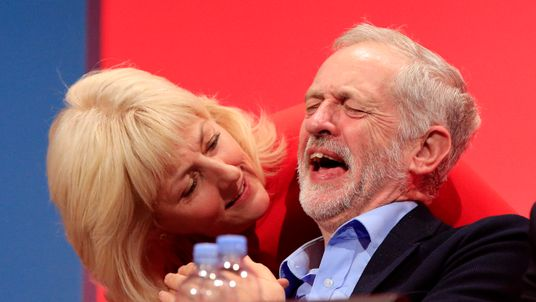 Jeremy Corbyn and Jennie Formby