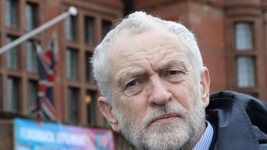 Labour leader Jeremy Corbyn during a visit to Carlisle.