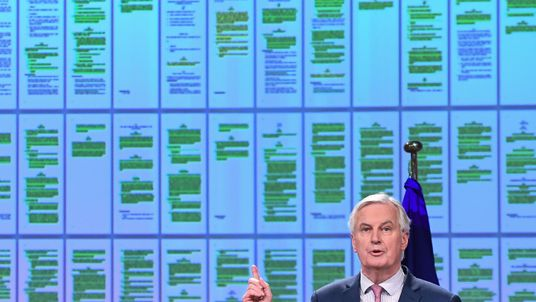 Michel Barnier announcing the Brext transition period