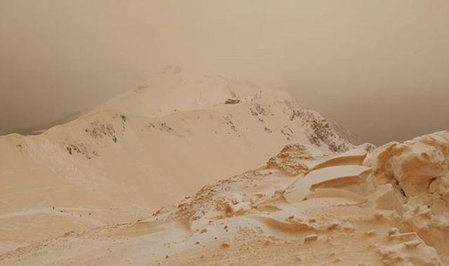 Unusual 'orange snow' phenomenon reported across eastern Europe