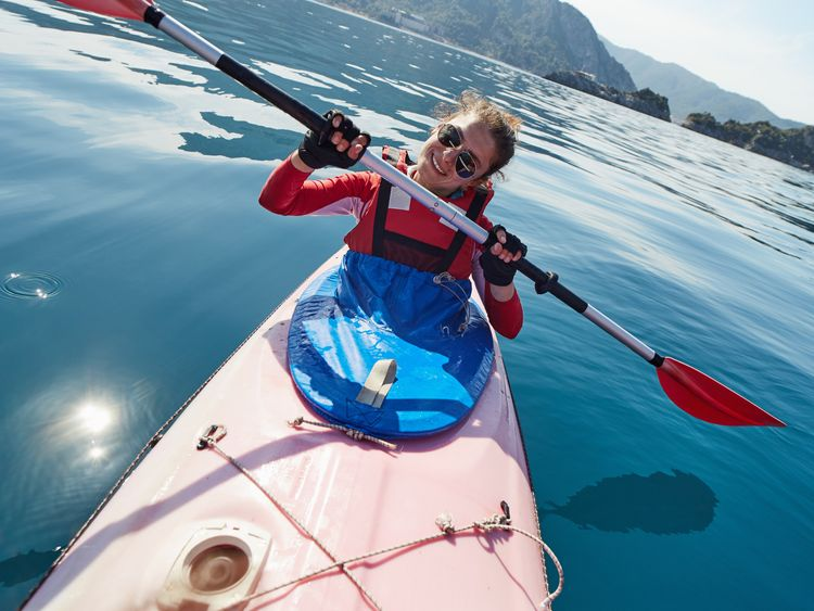 Flaps could be used to protect the edges of keys - like the blue spraydeck on this kayak