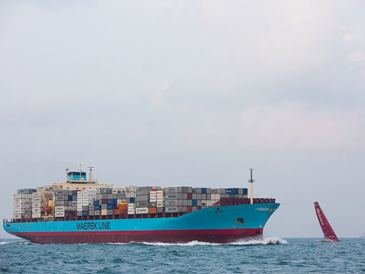 Maersk Line is the world's largest shipping company (file pic)