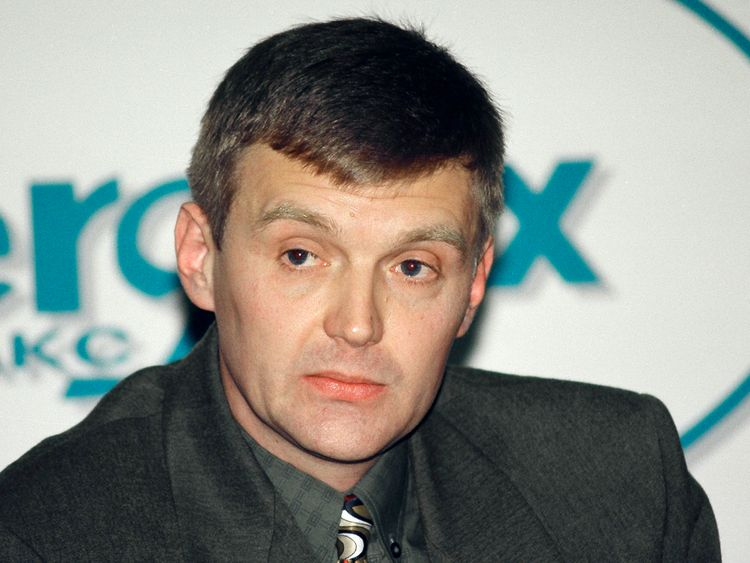 Alexander Litvinenko, pictured in 1998, accused President Putin of ordering his death