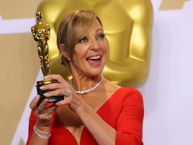 """Allison Janney with Best Supporting Actress Award for """"I, Tonya"""""""