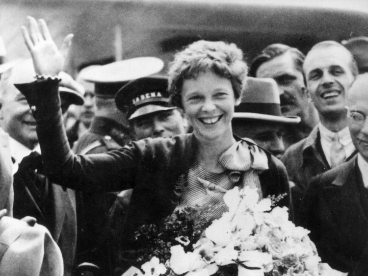 12th June 1932: American aviator, Amelia Earhart (1898 - 1937) during a visit to Brussels. (Photo by Keystone/Getty Images)