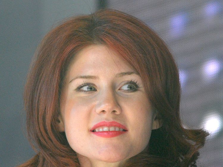 Former Russian spy Anna Chapman attends a congress of a pro-Kremlin youth group Molodaya Gvardiya (The Young Guard) in Moscow, on December 22, 2010