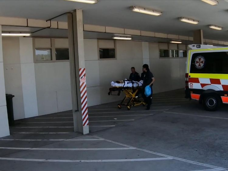 The patients were taken to hospital by the company's bus