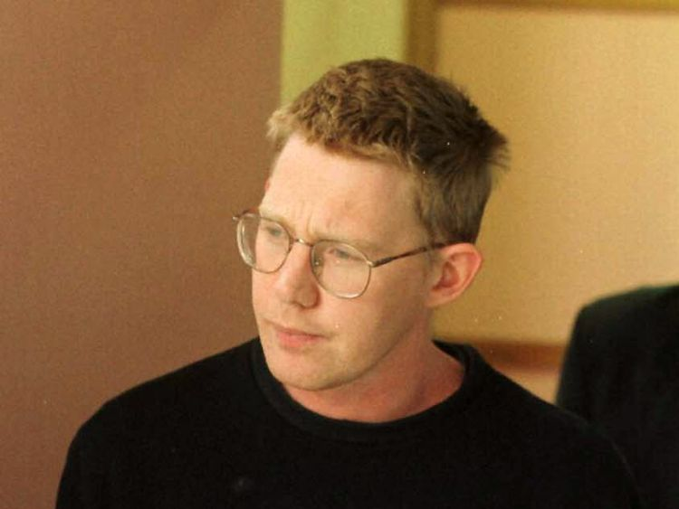 Christopher Lewis accused of the murder for Tania Furlan at court in Auckland in 1996. Pic: Stuff NZ