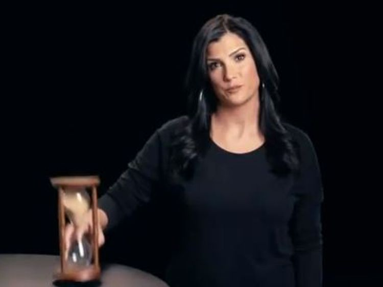 NRA spokeswoman Dana Loesch flipped a timer as she said 'your time is running out'. Pic: NRATV