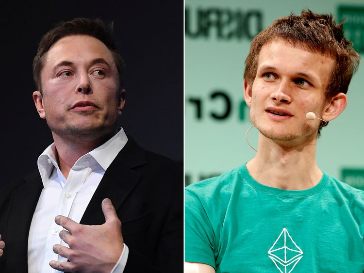 Elon Musk (L) and Vitalik Buterin (R) are regularly impersonated by scammers