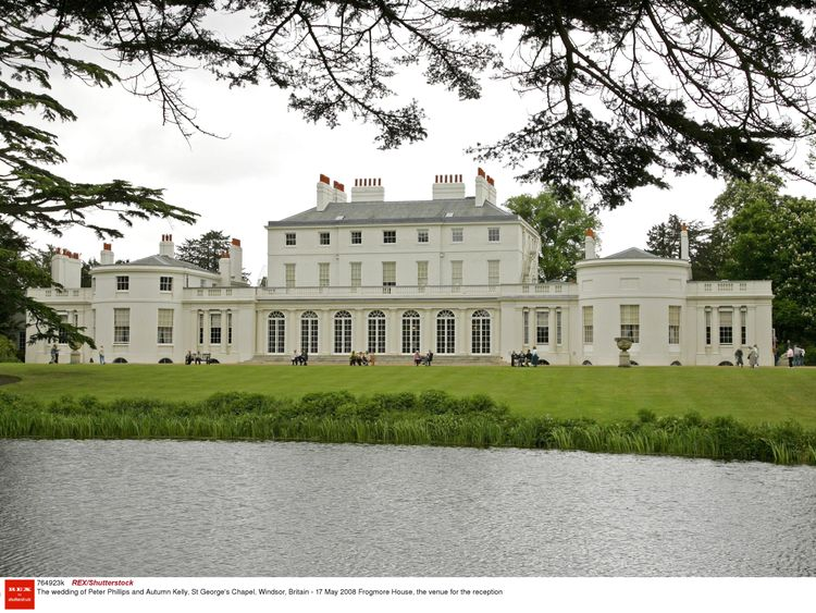 The second reception will be held in Frogmore House