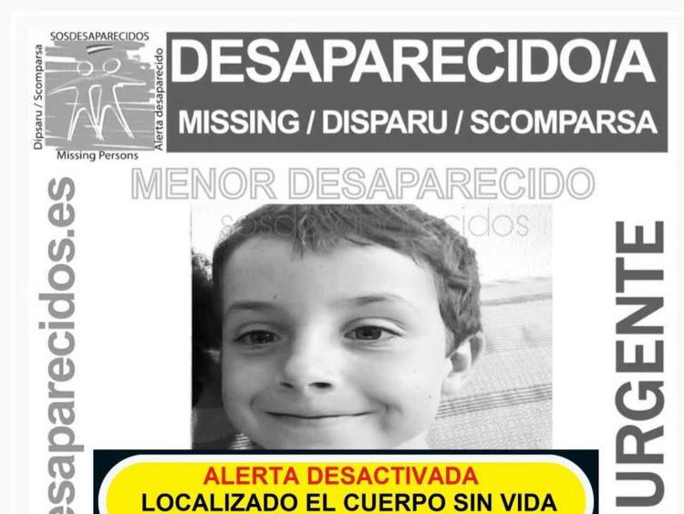 Body of missing boy, 8, found in car in Spain