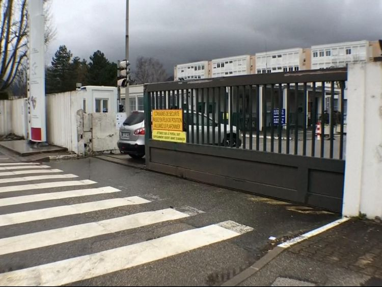 The army base in Grenoble