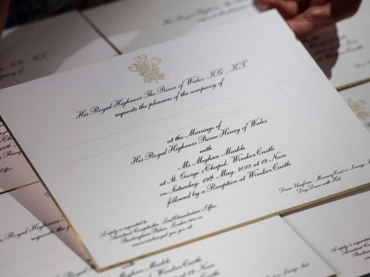 Prince Harry and Meghan Markles wedding invitations revealed