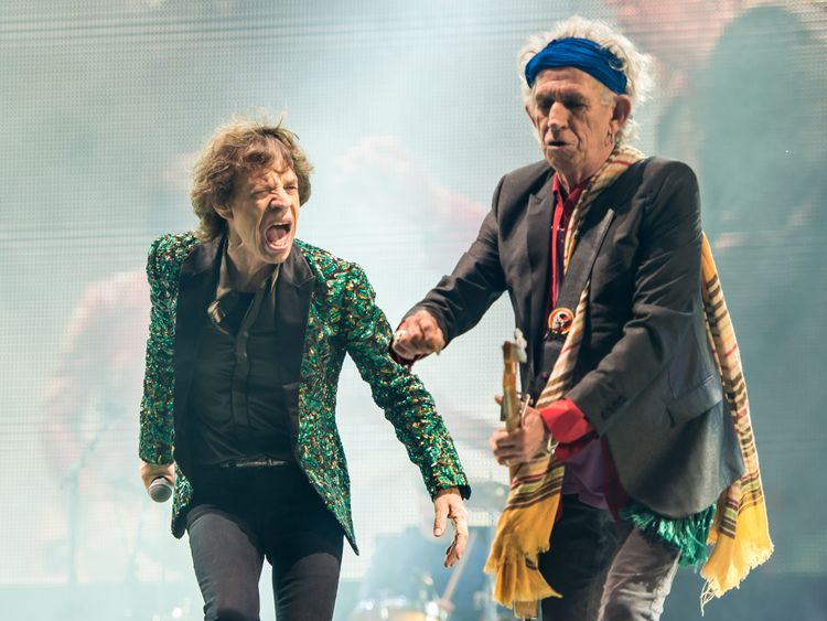 The pair became music icons after former the Rolling Stones