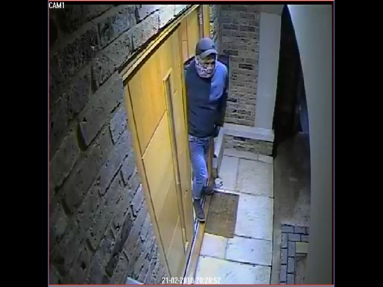 One of the men who carried out a burglary in nearby Keston on 21 February. Pic: Met Police