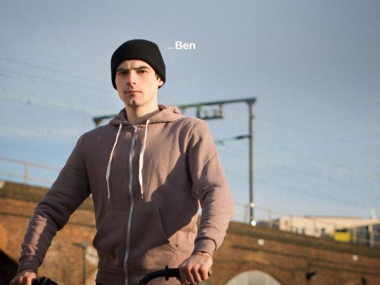 Ben is one of those featured in an anti-knife campaign