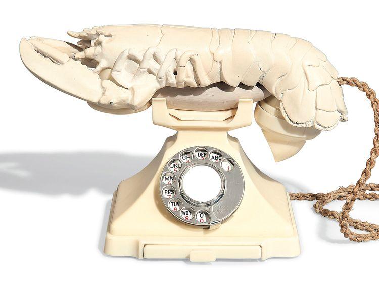 Salvador Dali's surrealist Lobster Telephone