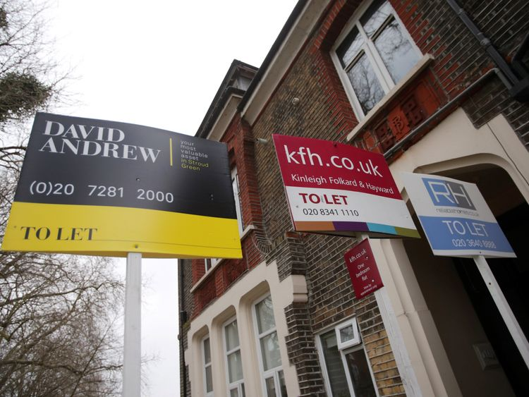 Rent signs in London
