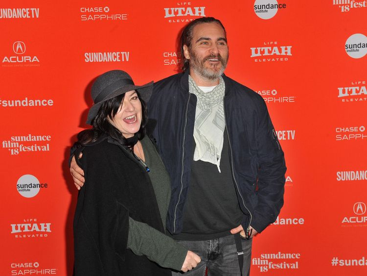 "attends the ""You Were Never Really Here"" Premiere during the 2018 Sundance Film Festival at The Marc Theatre on January 21, 2018 in Park City, Utah."