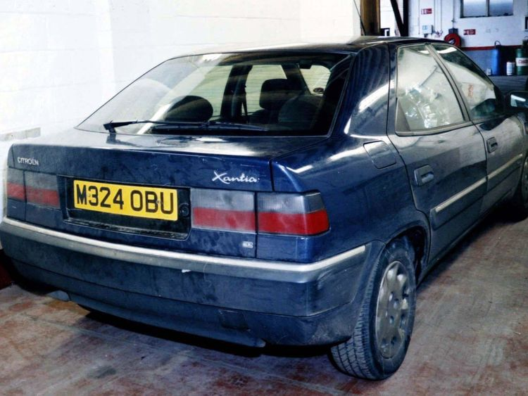 The Citroen Xantia that Antoni Imiela was arrested in