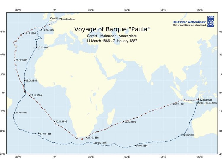 This map shows the points at which bottles were thrown from Paula in a bid to create a drift map. Pic: kymillman.com