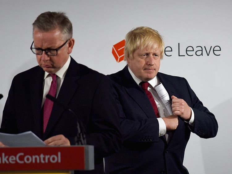 Michael Gove and Boris Johnson helped lead Vote Leave to victory in the campaign