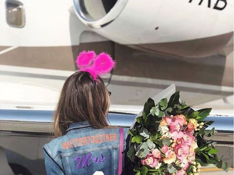 Mina Basaran wore a special denim jacket for her hen do