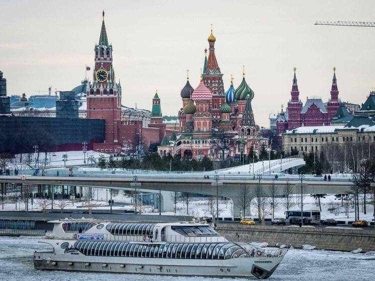 The Kremlin and St Basil's Cathedral in Moscow