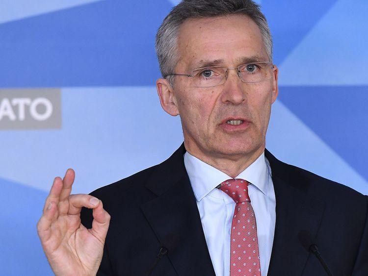 Jens Stoltenberg said Russia's behaviour was 'unacceptable'