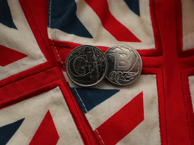 Two of the Royal Mint's 26 brand new 10 pence designs