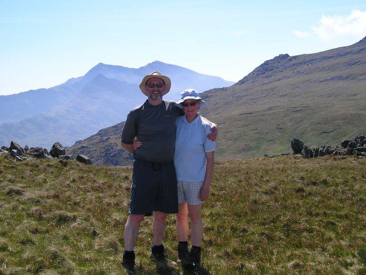 Noel and Carol in Snowdonia in 2012. Pic: Noel Conway