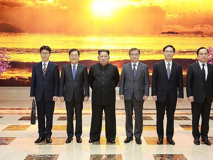The South Korean diplomats met Kim Jong Un in Pyongyang