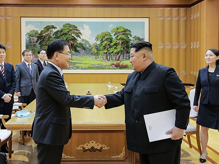 The South's envoy led a team on a two-day visit to the North Korean capital