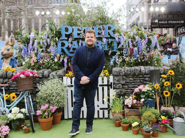Corden slams 'snobby' Peter Rabbit film critics