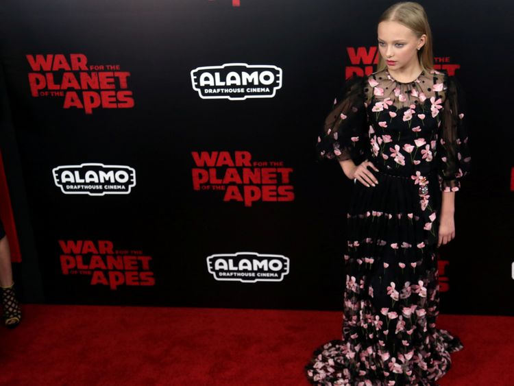 Amiah Miller, 13, plays Nova in War for the Planet of the Apes