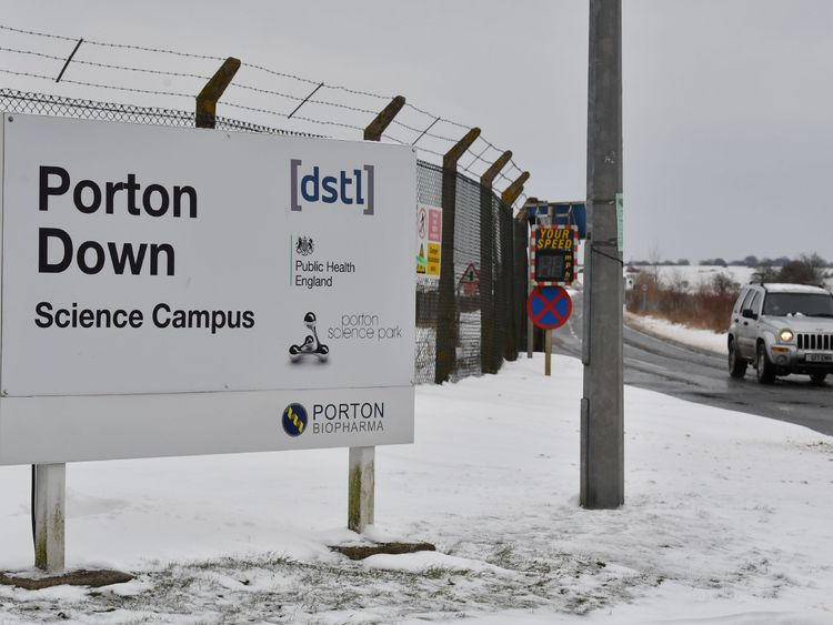 The Ministry of Defence's Porton Down research centre