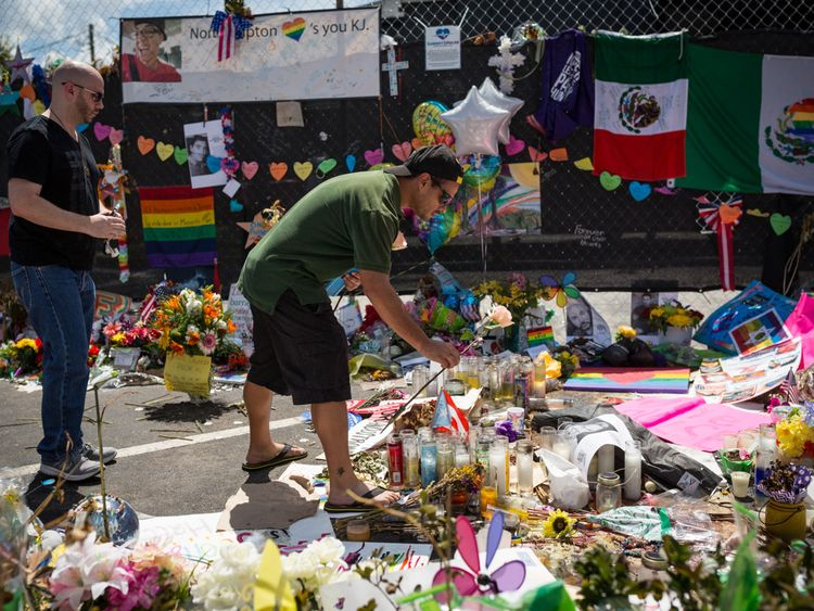Flowers and tributes were laid out for victims of the Pulse nightclub attack