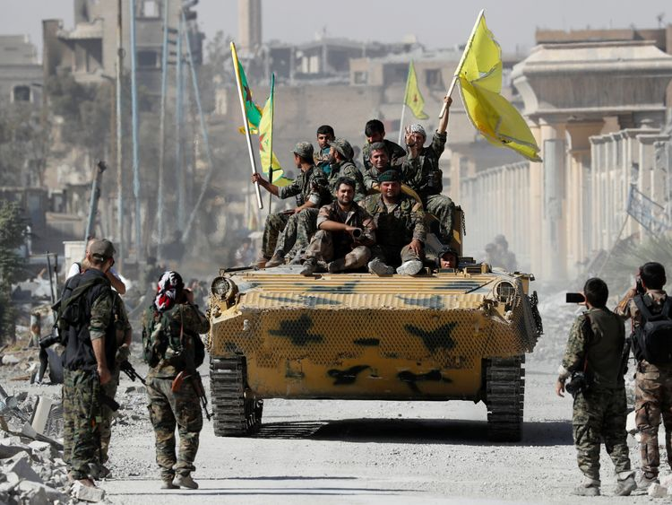 Raqqa was freed from the stranglehold of IS